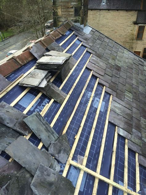 How To Reshingle A Garage Roof by Slate Re Roof In Padiham Cjb Roofing