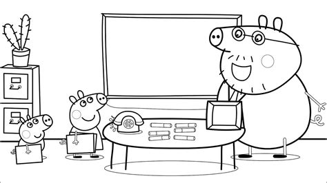 peppa pig coloring pages youtube peppa pig daddy pig school coloring pages for kids with
