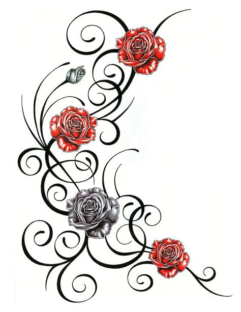 tribal rose tattoo design 2015