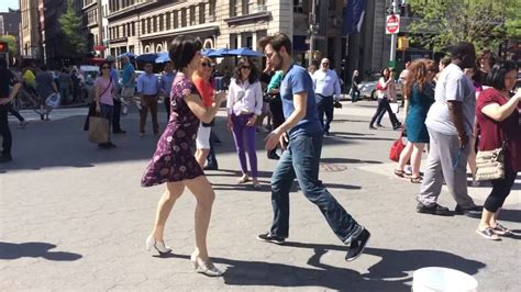 nyc swing dance swing dancing on the streets of nyc youtube