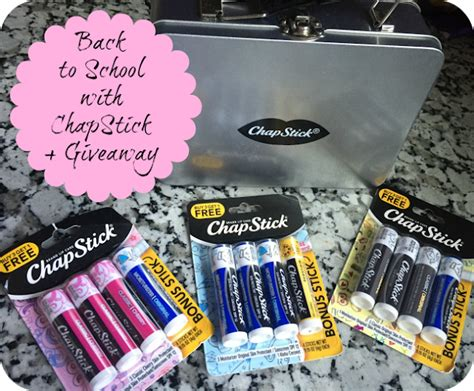 Chapstick Giveaway - nanny to mommy back to school with chapstick giveaway