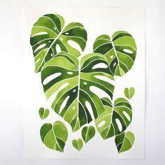 Poster Set Of 2 Tropical Leaves Cactus 2xa4 pin de fiona designs en colonial style