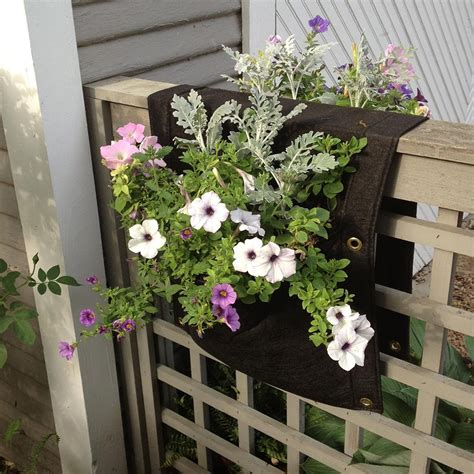 Wall Flower Planters by Smart Pots Wall Flower Saddle Planter Patio