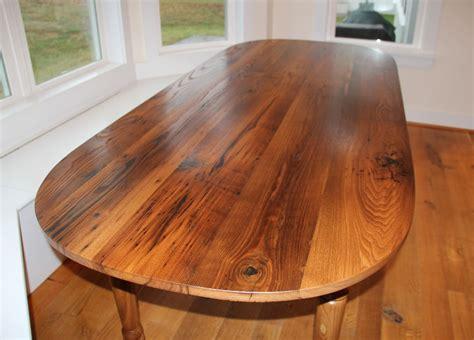 Farm Table Dining Room wormy chestnut oval table reclaimed wood
