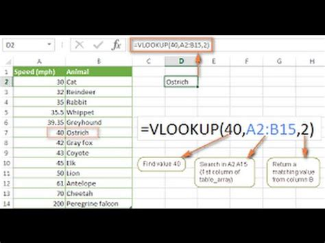video tutorial vlookup how to use vlookup