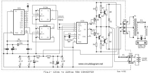 50w inverter 12vdc to 220vac circuit schematic
