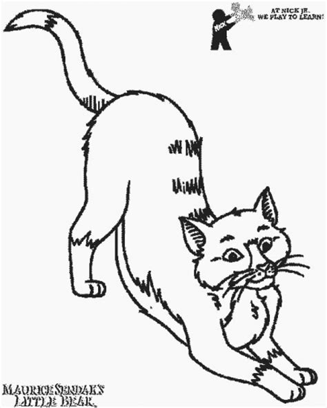 free coloring pages of a calico cat