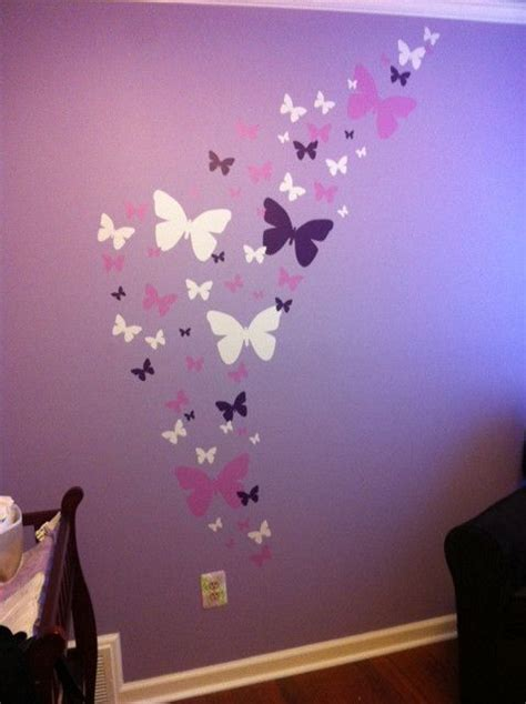 butterfly wall stickers for rooms best 25 purple bedroom walls ideas on purple