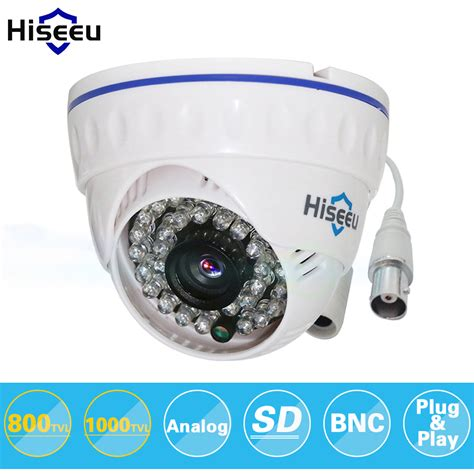 Cctv Indoor 1000 Tvl Jernih aliexpress buy hiseeu cmos 800tvl 1000tvl cctv mini dome security analog