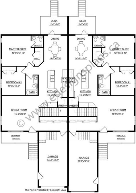 Side By Side Duplex Plans by Best 25 Duplex Plans Ideas On Duplex House