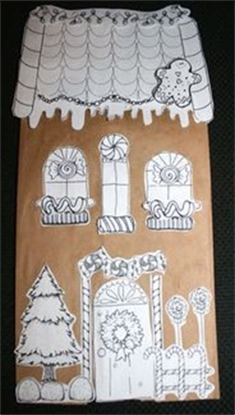 Paper Bag Gingerbread House Craft - with trisha on corks wine corks and