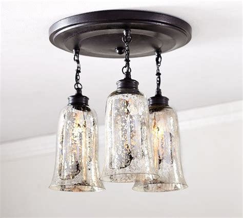 Mercury Ceiling Light Brantley Antique Mercury Glass Semi Flushmount Contemporary Flush Mount Ceiling Lighting