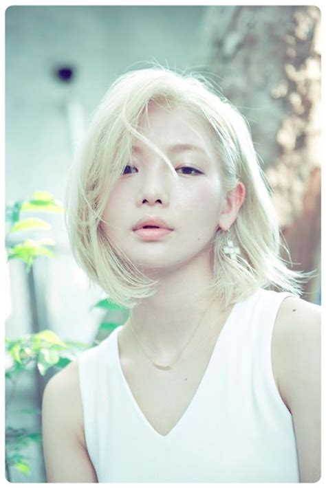 blonde asian hairstyles i ve never seen an asian woman with such light blonde hair