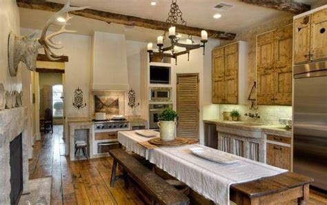 farmhouse kitchens ideas rustic farmhouse kitchen ideas with fireplace and antler