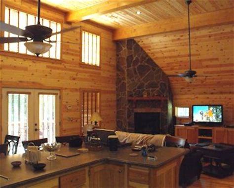 Knotty Pine Paneling   living room   Pam's cottage