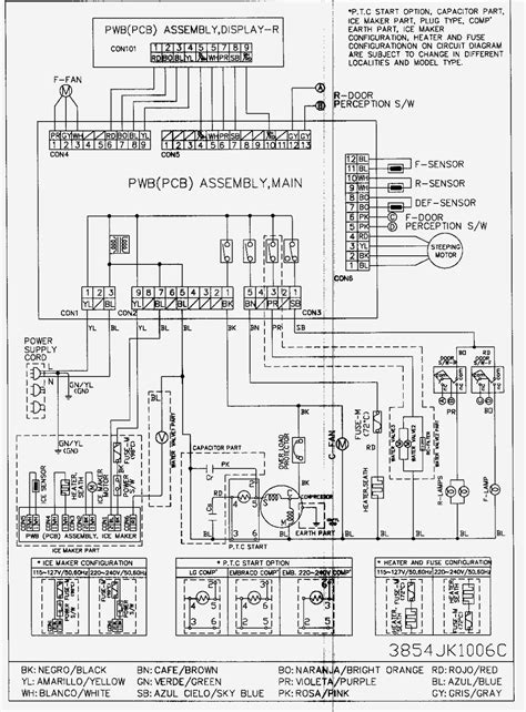 lg refrigerator wiring diagram wiring diagram with