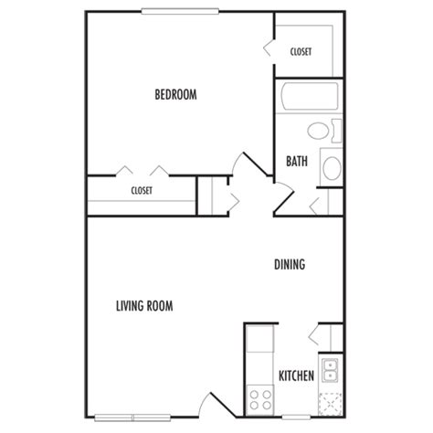 650 sq ft 650 square feet floor plan