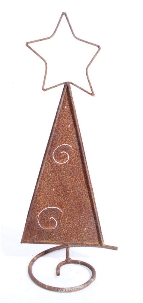 24 quot small metal christmas tree star on top holiday decor