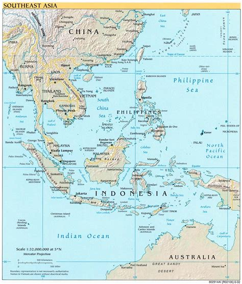 southeast asia geography map maps southeast asia physical map