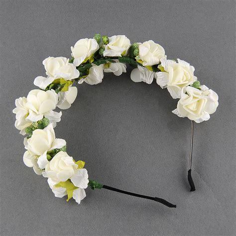 flower wedding garland flower garland floral bridal headband hairband wedding prom pink white ebay