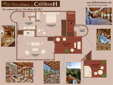 Treehouse Floor Plans by Belize Tree Houses