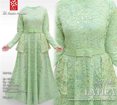 Baju Muslim Brukat Nadira Tosca distributor baju pesta muslim bahan brukat