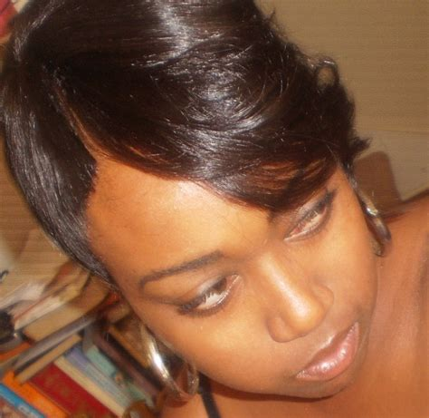 hair do with sew in weave with a part in the middle short 27 piece sew in weave hairstyles thirstyroots com