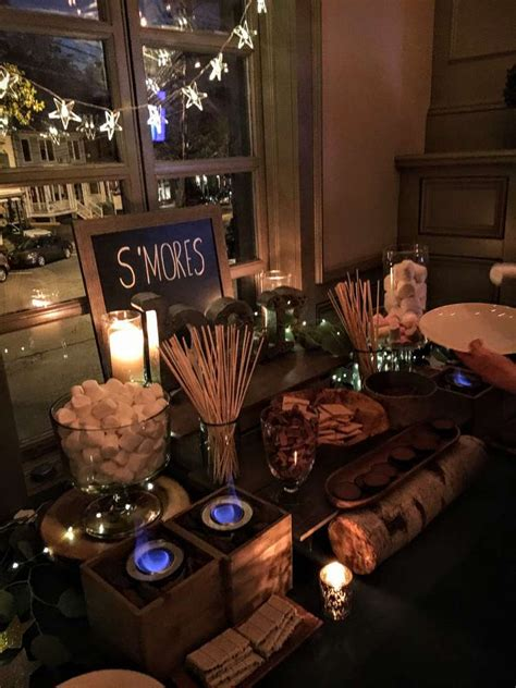 themed party nights for pubs s mores bar stars twinkle lights paper lanterns starry