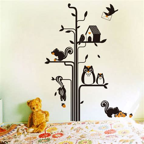 Drawing On Your Bedroom Wall by Kawaii Diy Tree Removable Wall Sticker For Kid Child