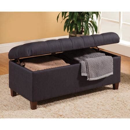 Navy Blue Storage Ottoman Tufted Storage Ottoman Bench In A Navy Blue Fabric By Coaster 500066 Ebay