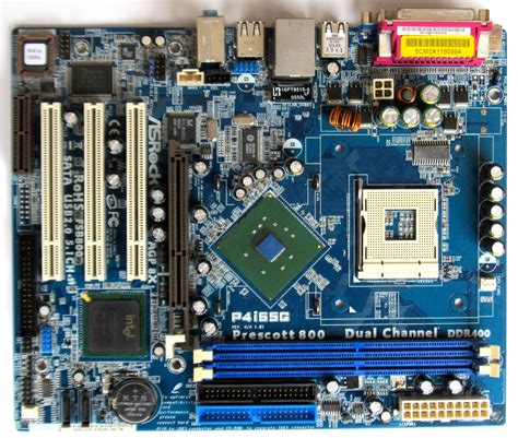 layout of pc motherboard file asrock p4i65g motherboard layout jpg