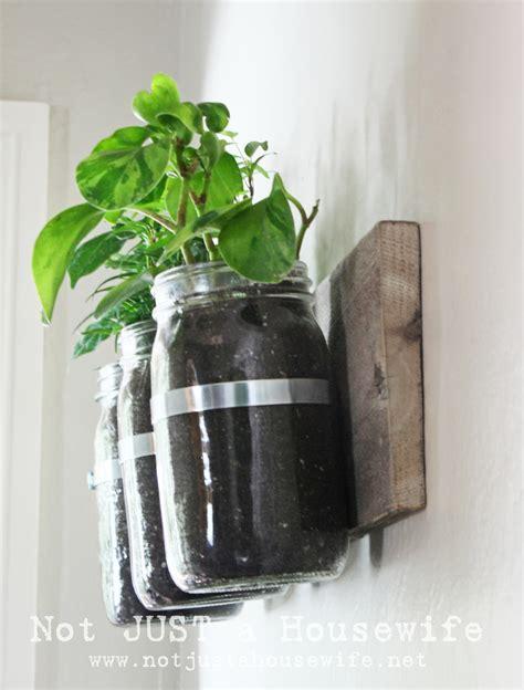 Mason Jar Wall Planter Not Just A Housewife Jar Wall Planter