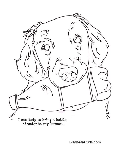coloring pages of service dogs 7 best images of things to print and color fun things to