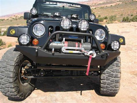 new winch mount front bumper for jeep wrangler jk off