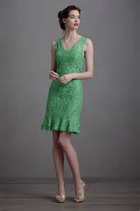 green lace bridesmaid dress bhldn onewed com