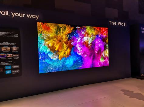 samsung wall tv remember samsung s wall tv now there s a bigger one gizmodo australia