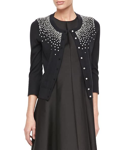 beaded cardigan kate spade new york benson beaded knit cardigan in black