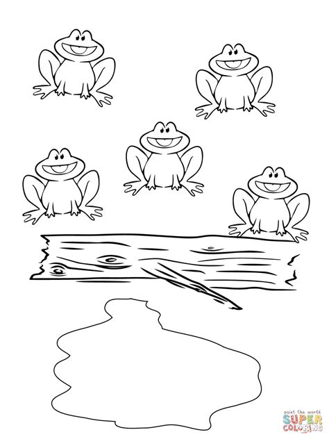 five speckled frogs coloring page five little speckled frogs coloring page free printable