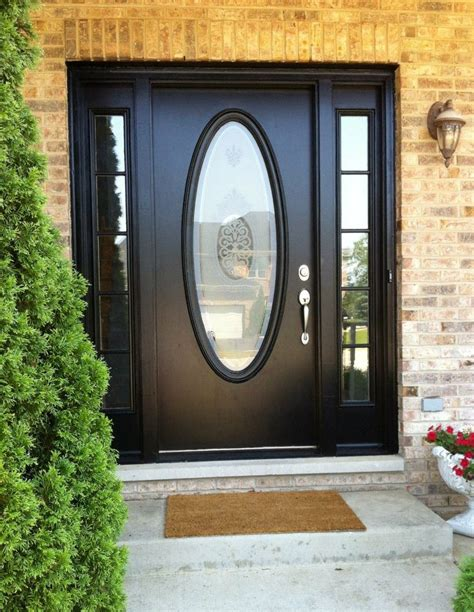 Oval Glass Doors A Black Door With A Large Oval Window Is What I Would Like For Redroc Ranch Outdoors