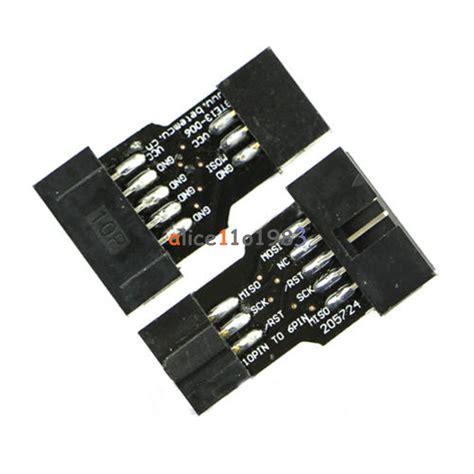 10 pin to 6 pin isp cable 5pcs 10 pin convert to 6 pin adapter board for atmel