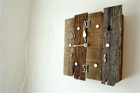 clock made of clocks custom made vintage style reclaimed barnwood clock by knot