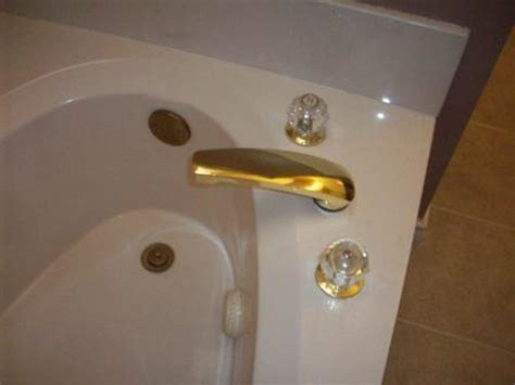 refinishing brass bathroom fixtures chrome plate the tub faucet 171 do it yourself knowledge