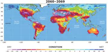map of us with global warming warming leading to drought threatening much of planet