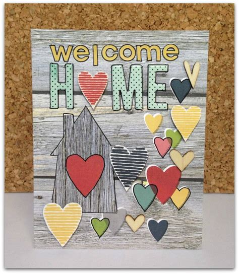 Welcome Home Card welcome home card scrapbook card using