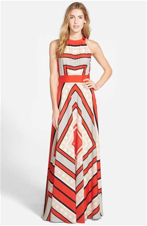 eliza j print jersey maxi dress eliza j scarf print woven maxi dress in red multi lyst