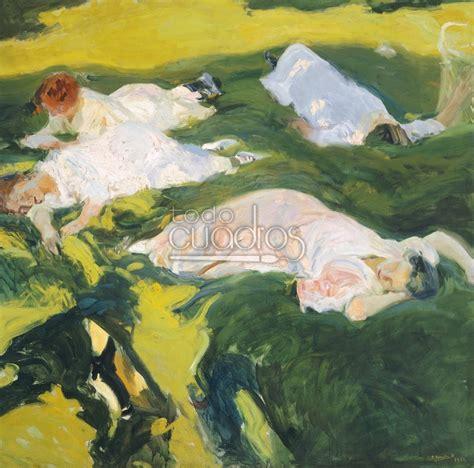 la siesta de cuadro quot la siesta quot de joaqu 237 n sorolla impresionismo moderno