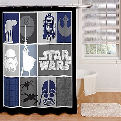 star wars shower curtains buy star wars microfiber shower curtain from bed bath