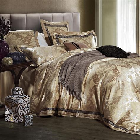 golden tribute silk comforter bedding sets luxury satin