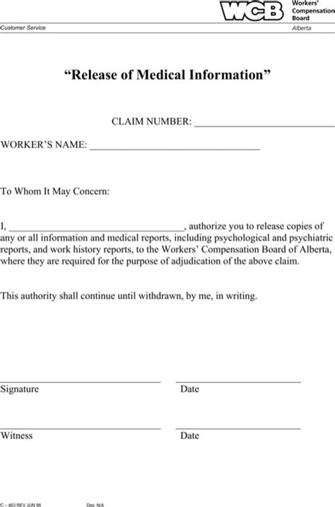 release of information forms alberta release form for free formtemplate