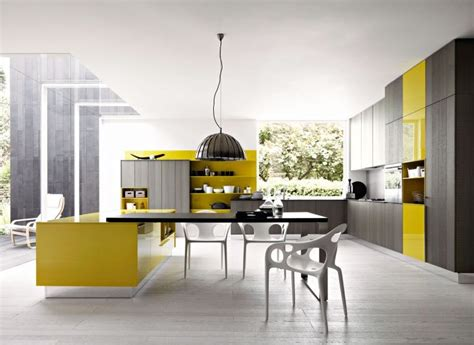 yellow modern kitchen modern yellow and grey kitchen ideas